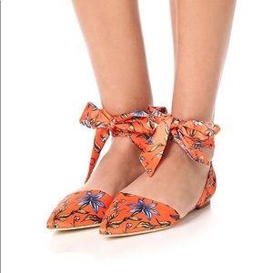 Sam Edelman Orange Brandie Lace Up Flats